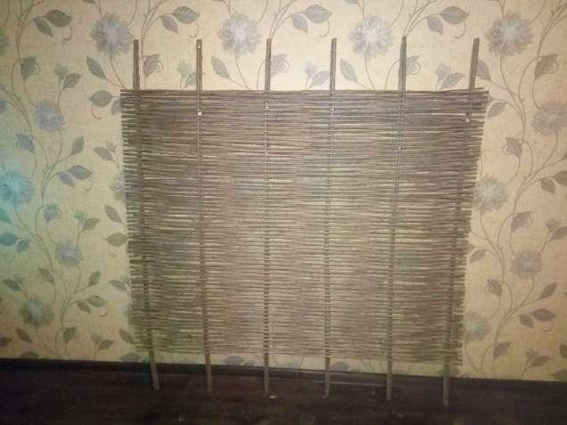 Плетение заборов из лозы, украинский тын