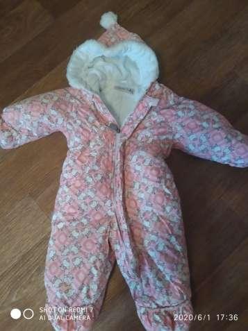 Зимний комбинезон Lenne Baby р 80 для девочки