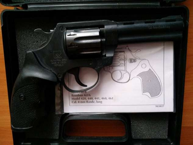 Чешский револьвер под патрон флобера Alfa мод 440