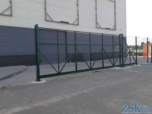 Ворота откатные (модульные) H-3,0м, L-8,0м
