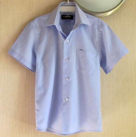 Отличная голубая рубашка, от 5 до 7 лет