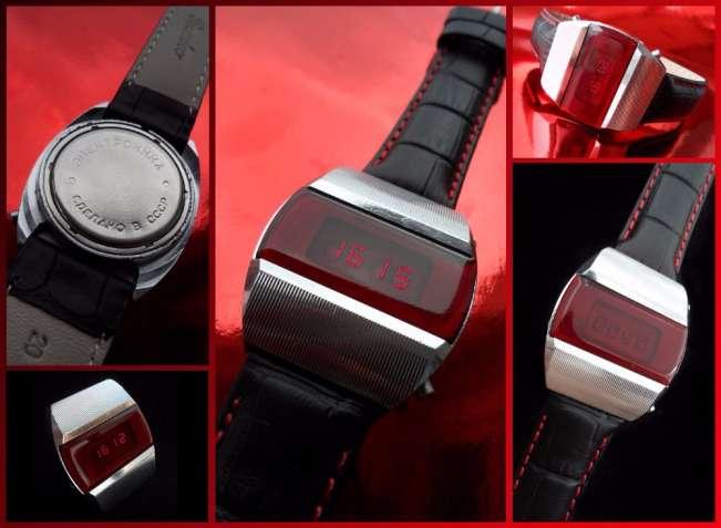 «ЭЛЕКТРОНИКА-1» ПЕРВЫЕ Советские электронные наручные часы гаджет 70ых