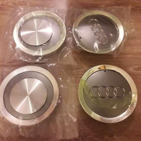 Оригинальные колпачки заглушки на литые диски audi 4e0601165a