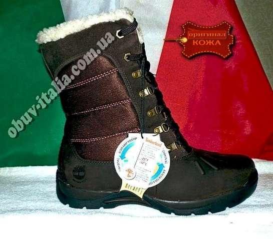 Ботинки зимние женские кожаные фирмы Timberland Mallard Tall