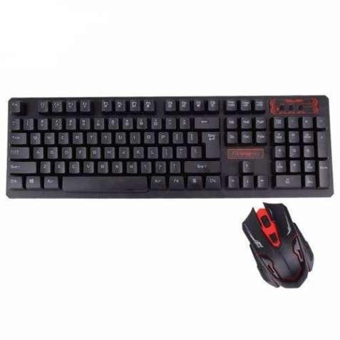 Беспроводная клавиатура и мышь (комплект)