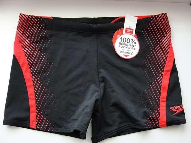 Плавки-боксеры SPEEDO (Черные с красными полосками)