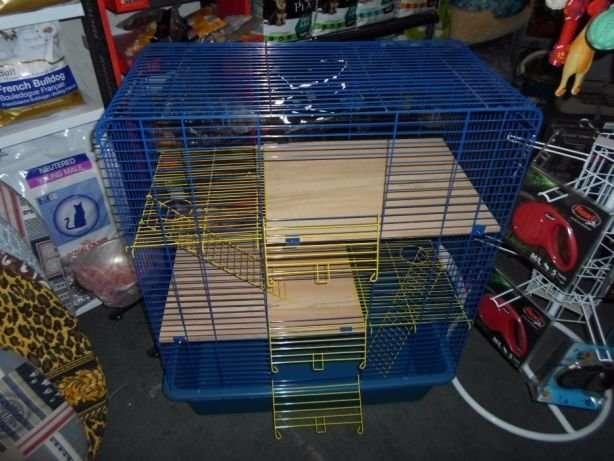Новая клетка 80х45х107h для крыс, дегу, шиншилл, хорьк, птиц 3 яруса