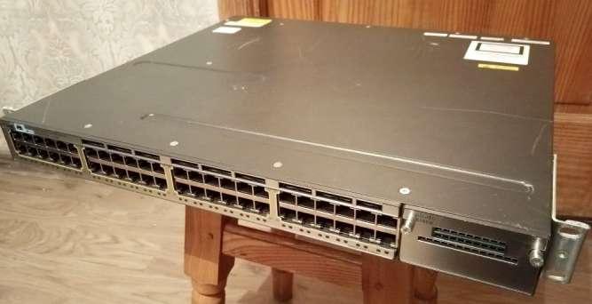 Коммутатор Cisco WS-C375OX-48T S в хорошем состоянии, 48-port