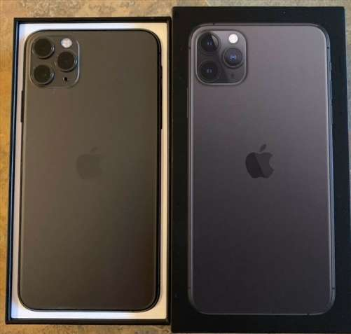 Apple iPhone 11 Pro 64GB = $500, iPhone 11 Pro Max 64GB = $550,iPhone