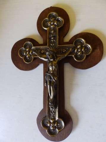 Антикварный красивый бронзовый крест