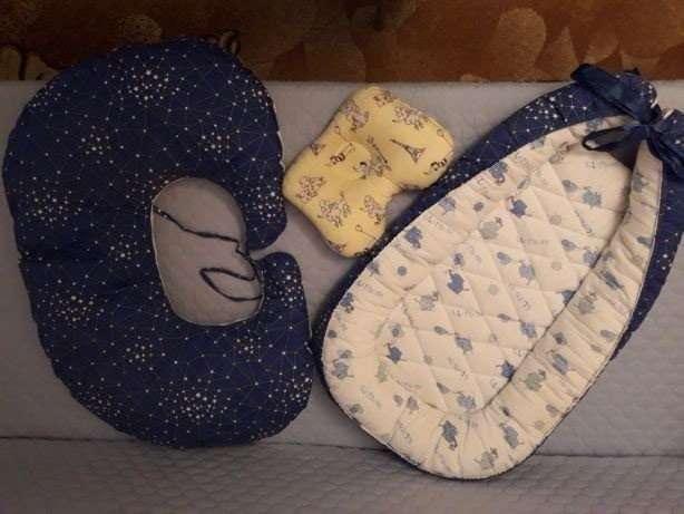 Набор для (кокон, подушка для кормления и ортопедическая подушка)