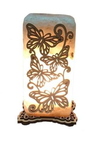 Соляной светильник Бабочки прямоугольный