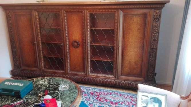 Книжный шкаф Библиотека для книг Неоренесанас на львиных лапах Комод р