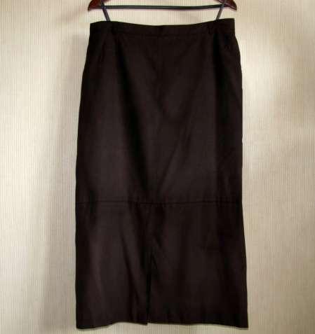 Фирменная длинная юбка под замш, евроразмер 46