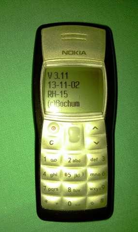 NOKIA 1100 , Прошивка 3.11 RH -15 - Очень редкая версия телефон