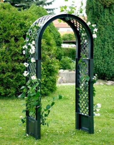 Садовая арка для вьющихся растений зеленая №4708