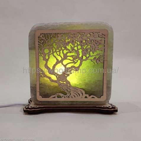 Соляной светильник квадратный Дерево, соляная лампа, ночник