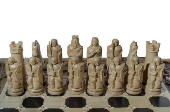"Шахматы резные ""Тевтонский орден"" 3 в 1 (шахматы, нарды, шашки)"