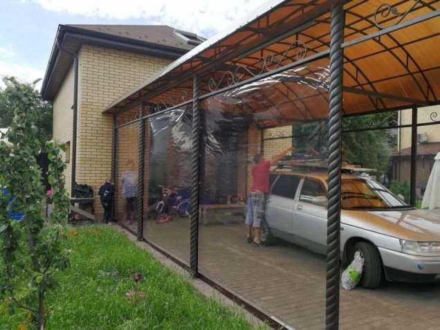 Прозрачная пленка ПВХ 0,5мм-мягкое стекло для террас, веранд
