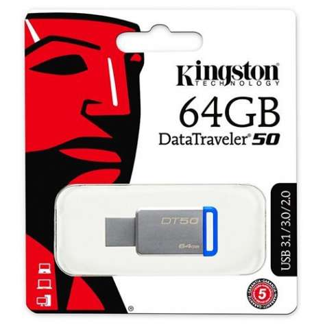 Флешка USB 3.1 Kingston 64gb металл Оригинал НОВАЯ