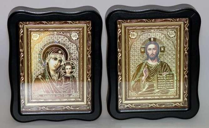 Иконы Спаситель и Божия Матерь Пара