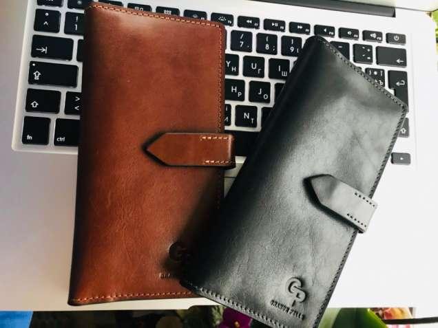 Портмоне кошелек из натуральной итальянской кожи бренда Grande Pelle