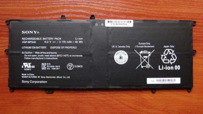 Оригинальная аккумуляторная батарея Sony VGP-BPS40 3170mAh