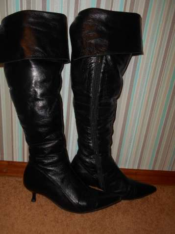 Женские кожаные сапоги 38 размера
