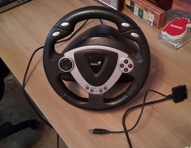 Игровой руль с педалями Genius TwinWheel