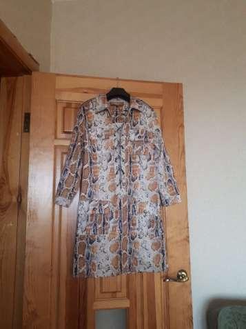 Платье-туника из плотного атласа