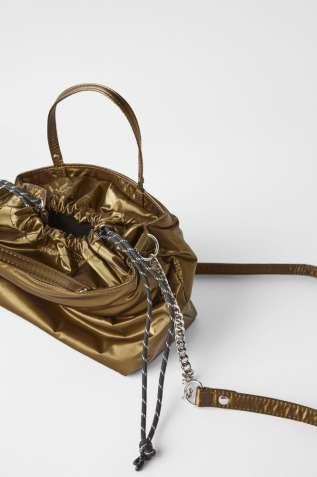 Очень стильная балоневая сумка клатч кроссбоди Zara