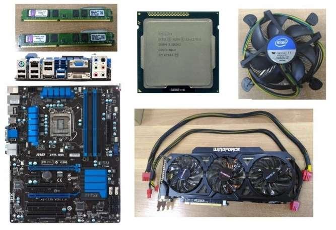 Продам комплект MSI z77a-g43/Xeon E3 1270v2/Gigabyte GTX 770/DDR3 8Gb