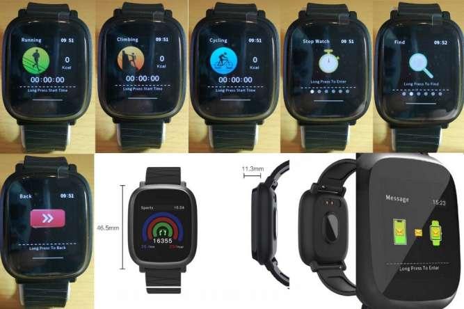 Смарт часы(фитнес браслет)Bakeey M30(давление,пульс) - изображение 3