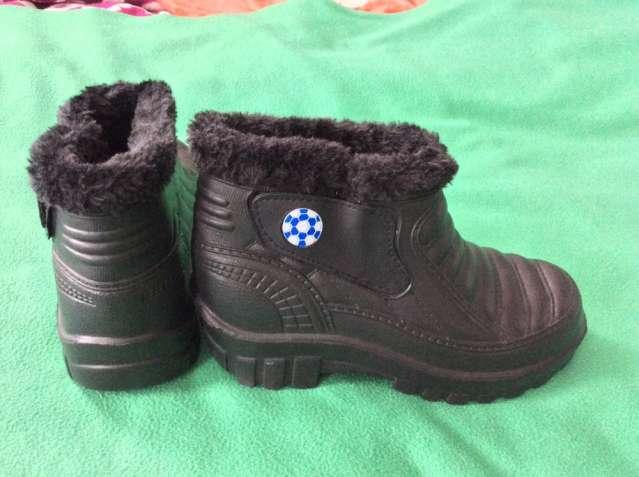 Новые классные чёрные ботинки р.37-38 (стелька 23 см)