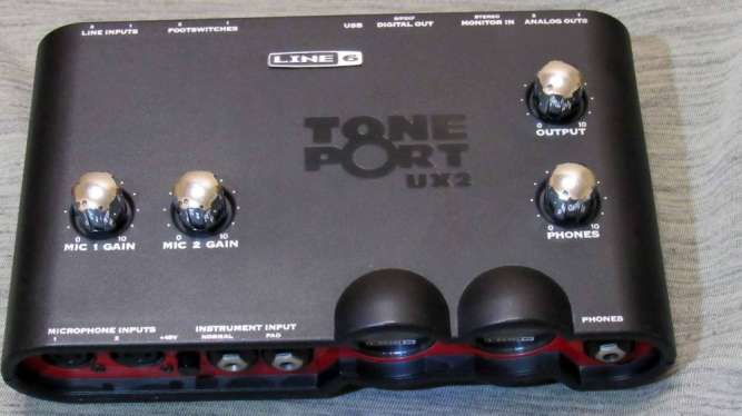 Звуковая карта Line 6 Tone Port UX2 аудио интерфейс Pod Studio - изображение 5