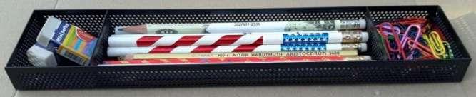 Подставка/лоток для ручек/карандашей Herlitz перфорированный металл