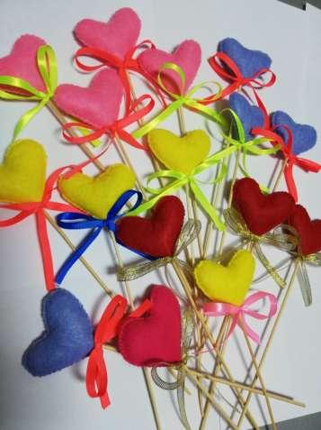 Сердце-валентинка из фетра ручная работа