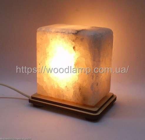 Соляной светильник Квадрат маленький, лампа, ночник