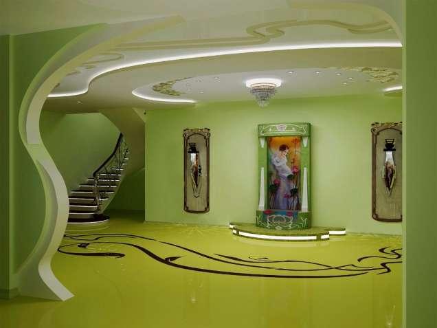 Водоспад по склу в інтер'єрі від дизайн студії Романа Москаленка - изображение 4
