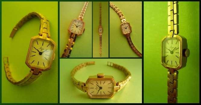 ПОЗОЛОЧЕННЫЕ часы 80-х. МЕХАНИЧЕСКИЕ «ЛУЧ-1801» сделано в СССР винтаж