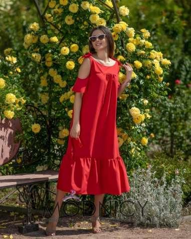 Летнее платье  ГИПНОЗ  красного цвета