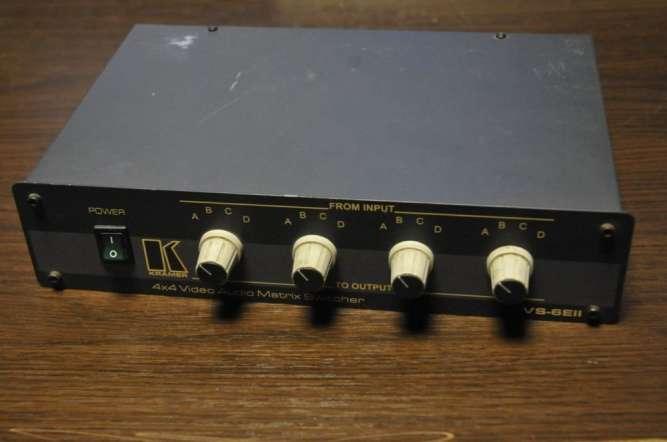 Матричный коммутатор Kramer видео и стерео аудио VS-6EII 4x4