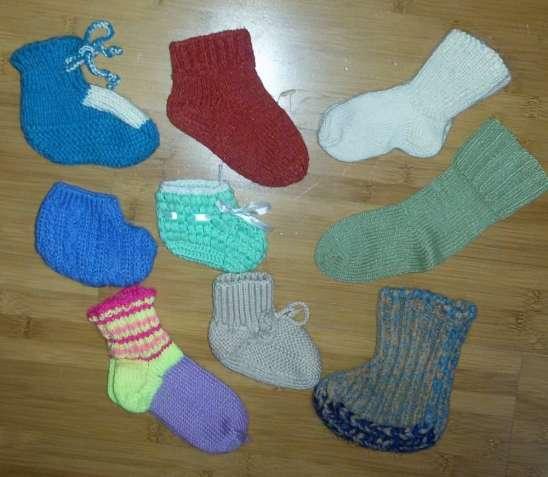Продам Носочки вязаные пинетки детские размер 16-20