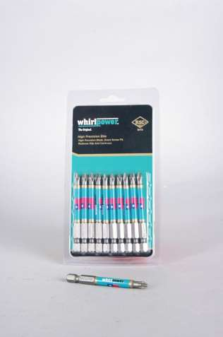 Биты для шуруповерта Whirlpower PH2 70 mm (10 шт в у/п) 70 гр упаковка