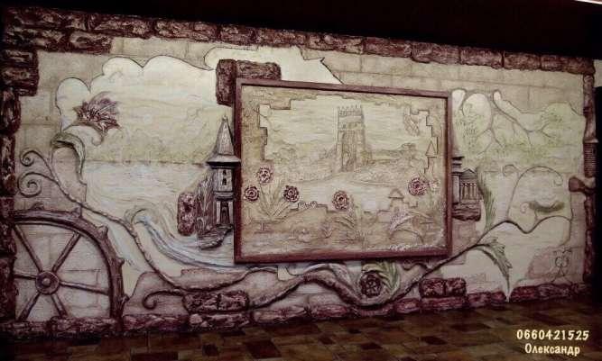 Пам'ятка міста Луцьк замок Любарта відтворена Олександром Слабецьким.
