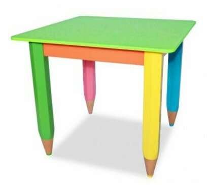 Детский столик Карандашики 60*40 см (цвет столешницы-салатовый)