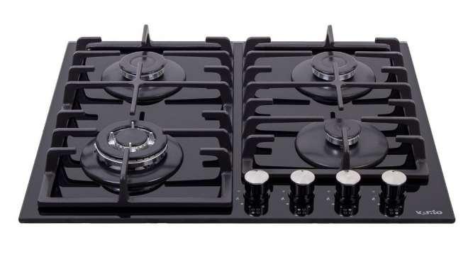 Газовая варочная поверхность Ventolux HSF640-T3G T (BK) плита печка