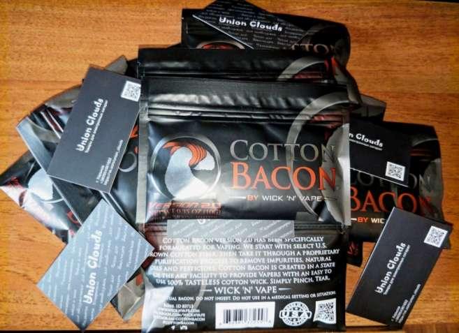 Cotton Bacon V2 Органическая вата (хлопок) не Muji/Puff/Koh для Vape