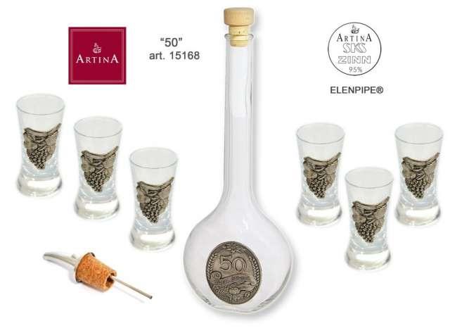Artina наборы для водки или шнапса стекло, олово от производителя