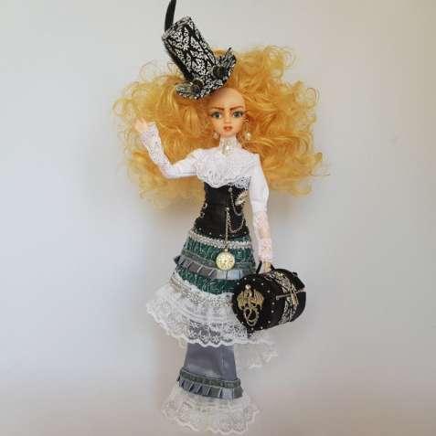 Коллекционная кукла с тиле стимпанк высотой 30см.
